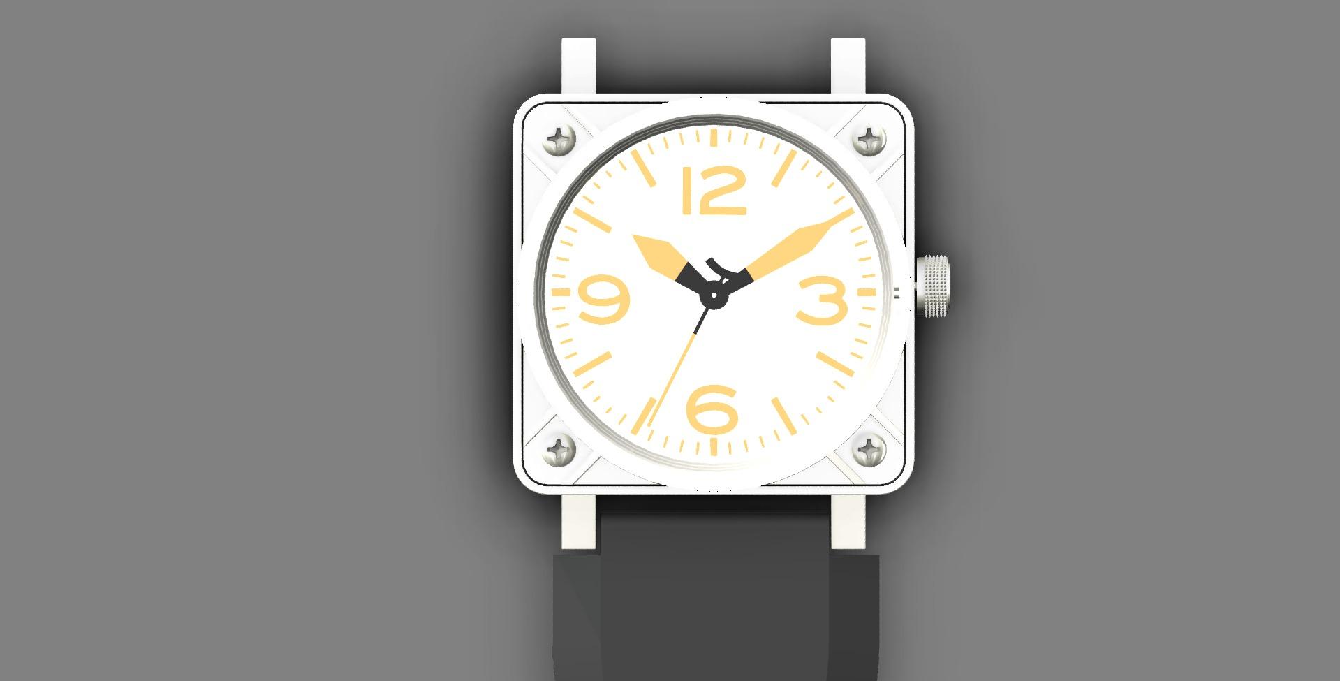 Replica_watch_assembled_top_white