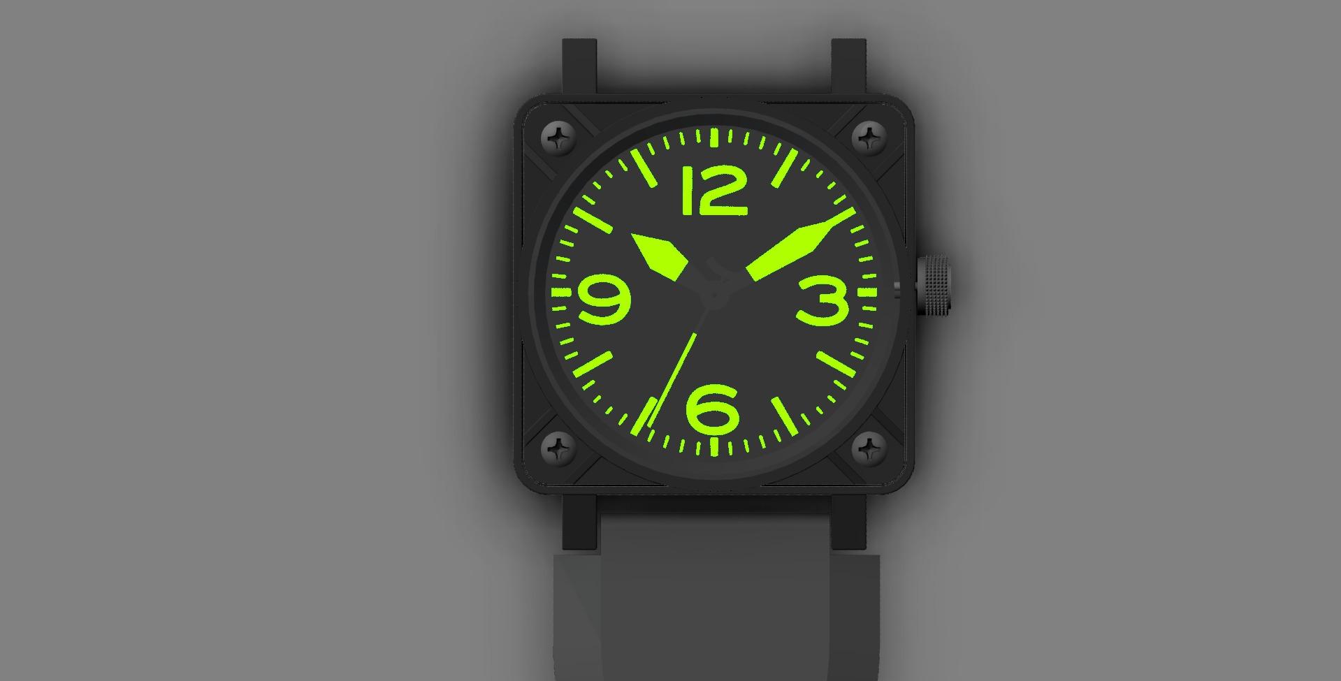 Replica_watch_assembled_top_black