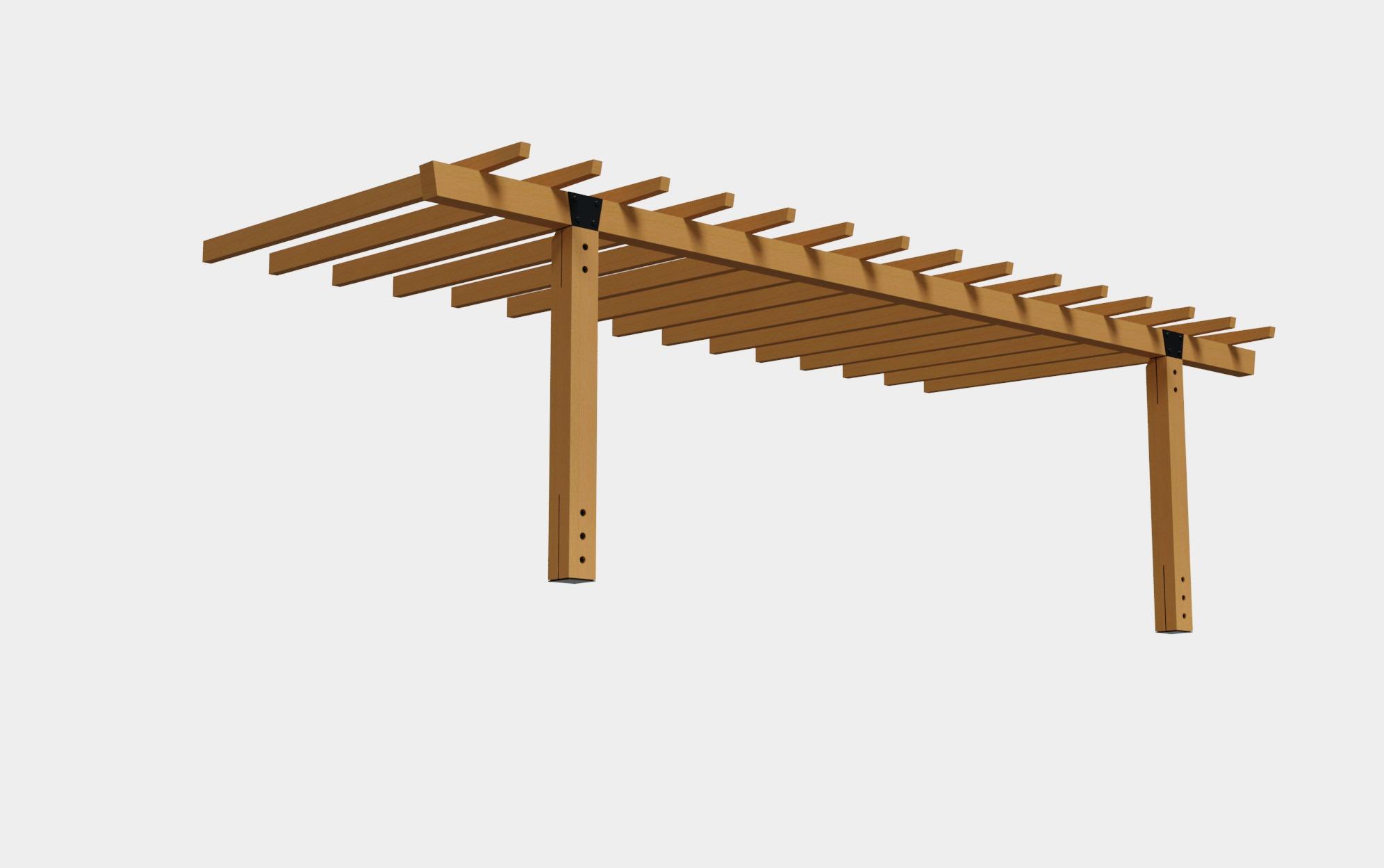 Pergola leroy merlin aluminium pergola aluminium leroy - Postes de madera para pergolas ...