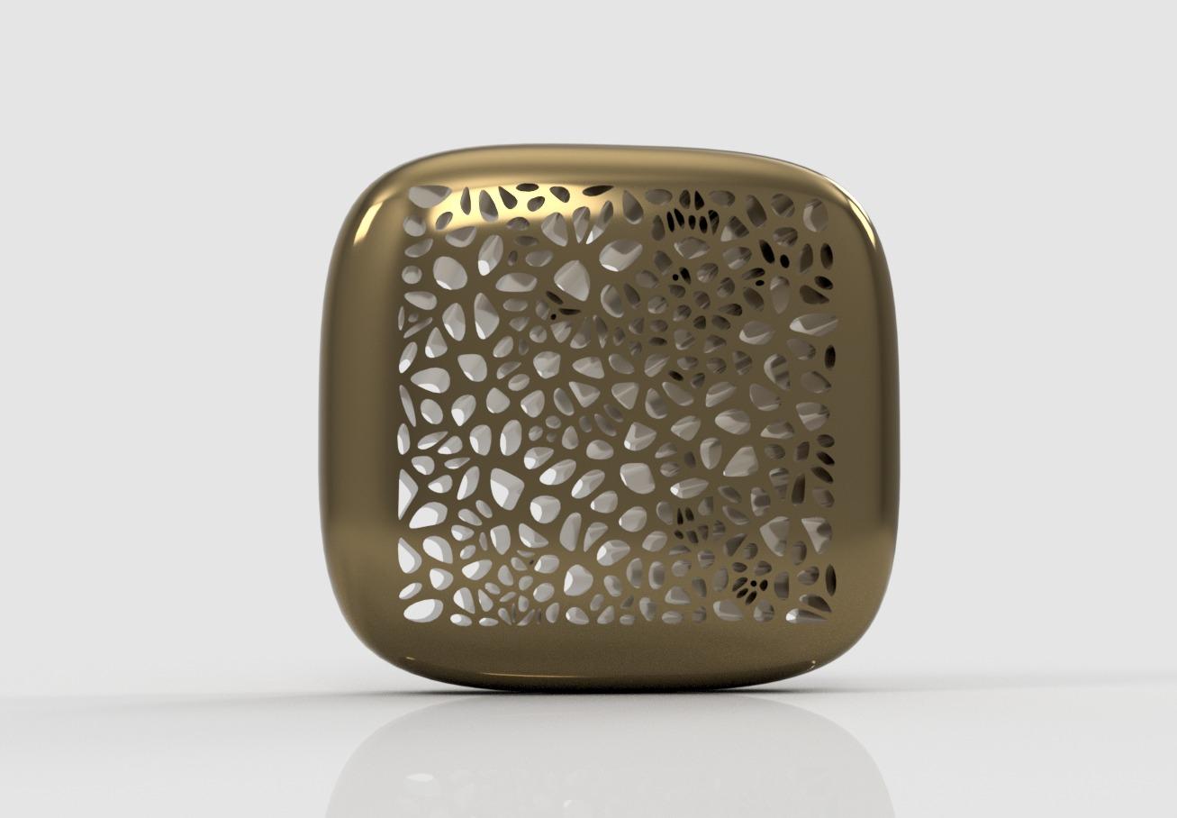 Voronoi-256-cells-brass