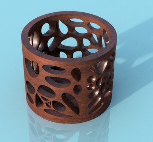 Voronoi-16x4-cells-walnut