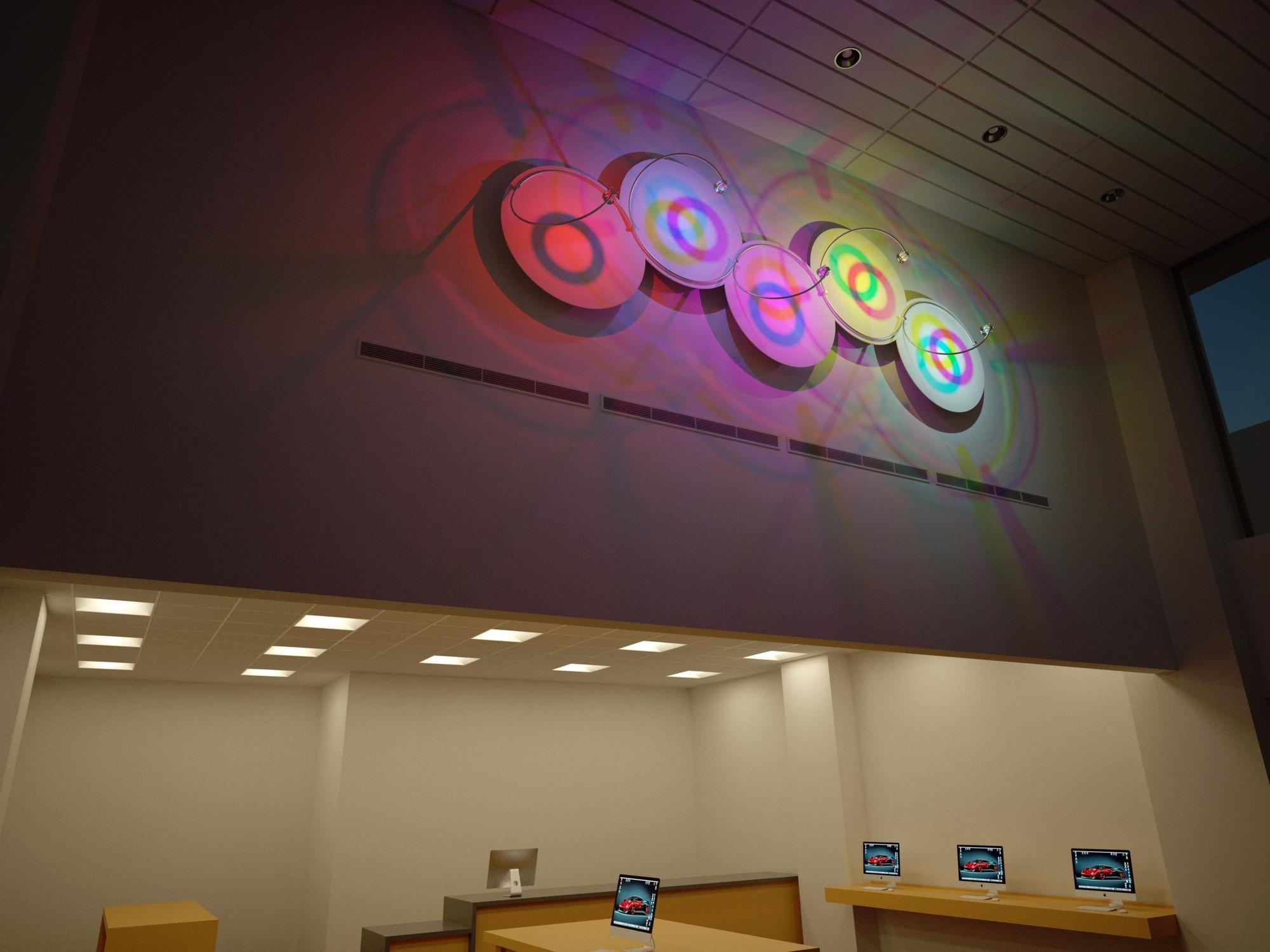 Ceiling Led Lighting Systems : Led lighting system autodesk gallery