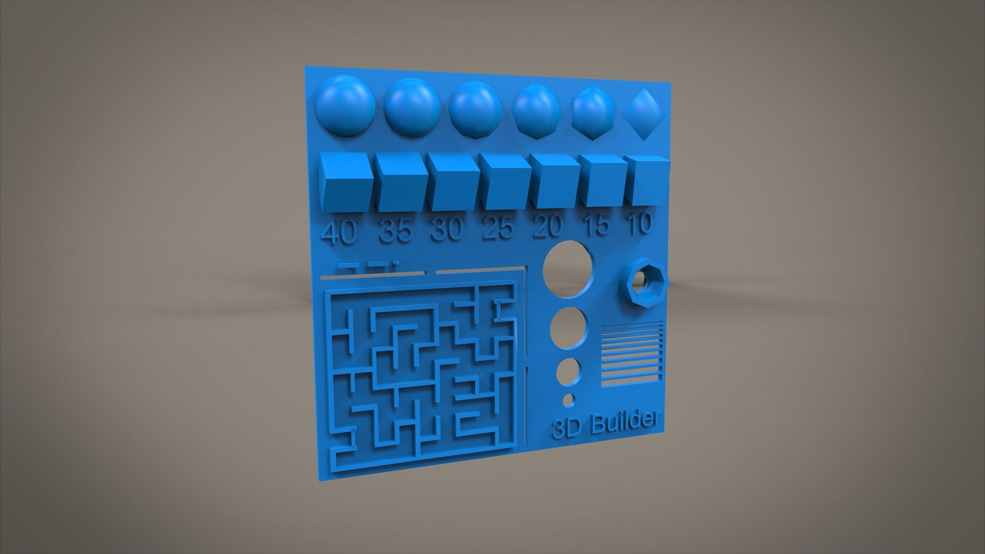 3d Print Test Design Autodesk Online Gallery