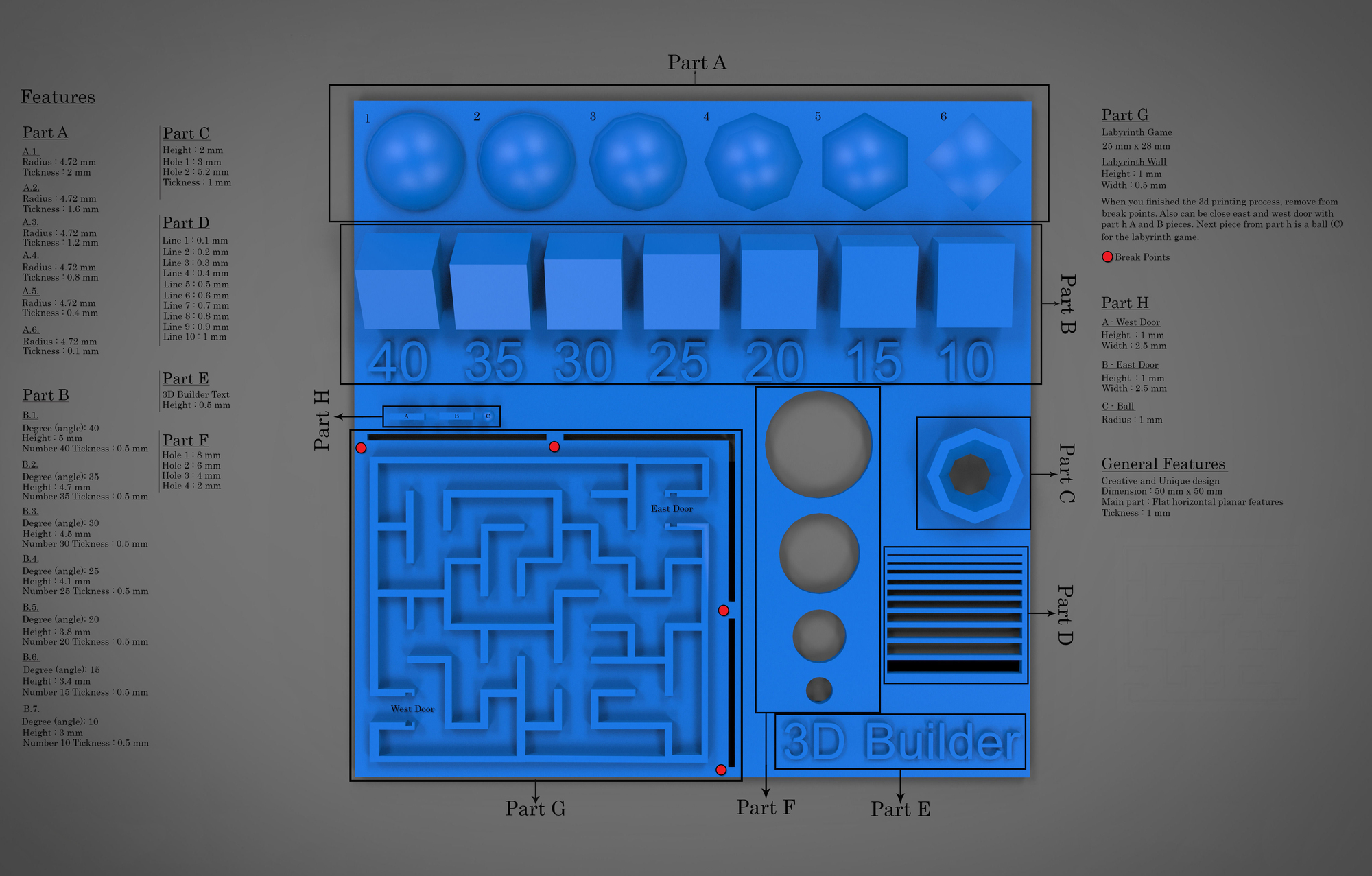 3d print test design|autodesk online gallery