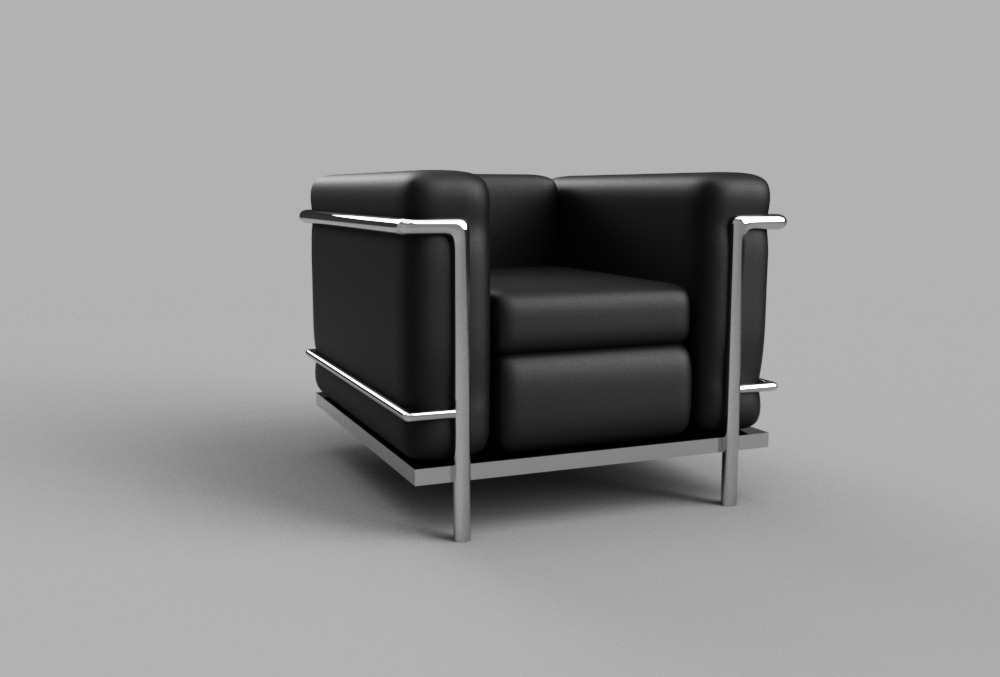 Le corbusier lc2 chair autodesk online gallery for Le corbusier lc2