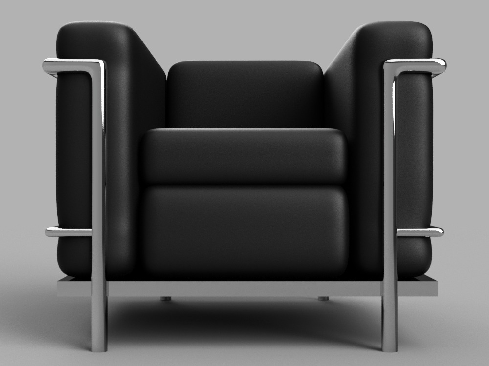 Le Corbusier LC2 chair|Autodesk Online Gallery