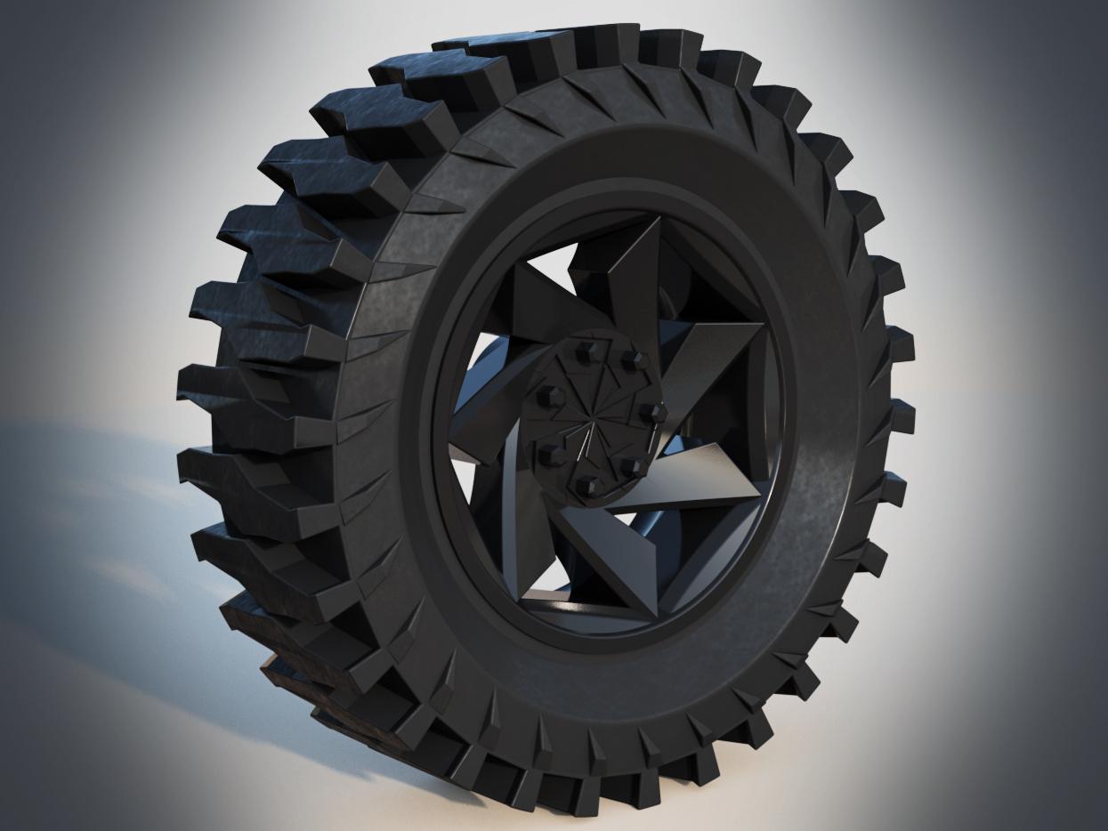 Off Road Wheel Amp Tire Autodesk Online Gallery