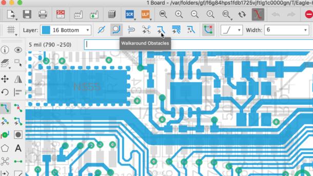 Autodesk EAGLE Manual Routing