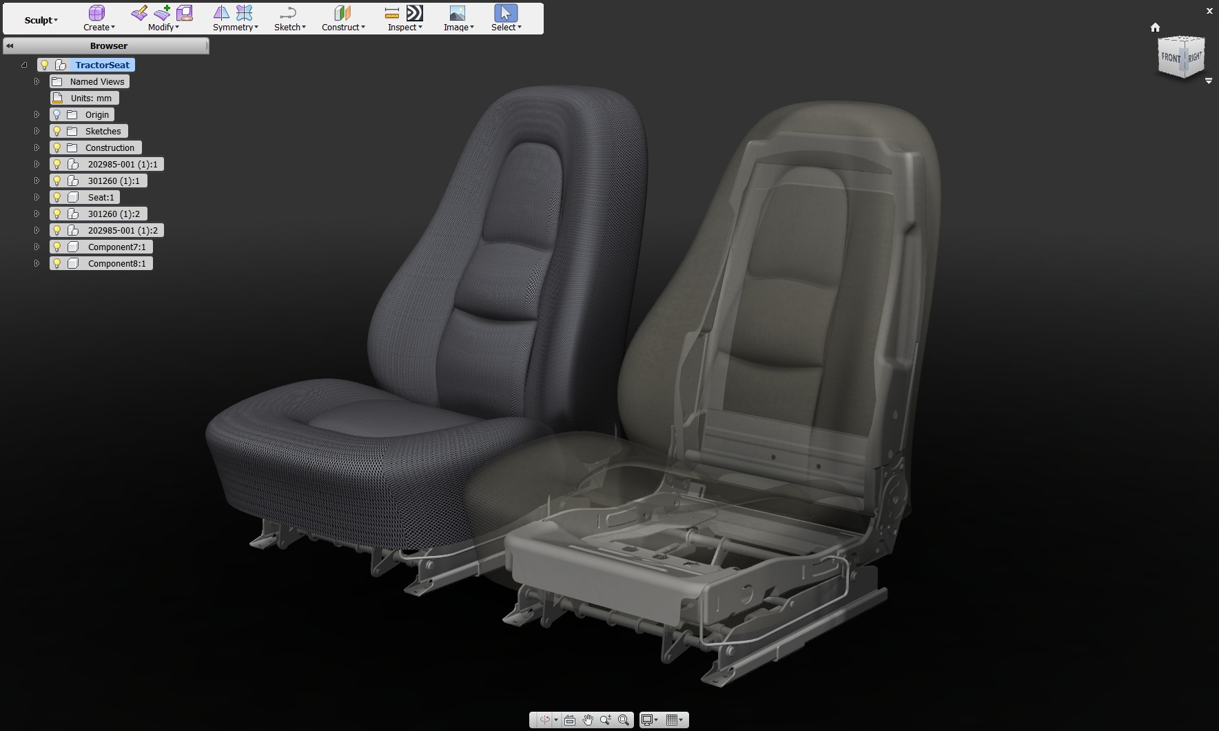 Automotive Seat Autodesk Online Gallery