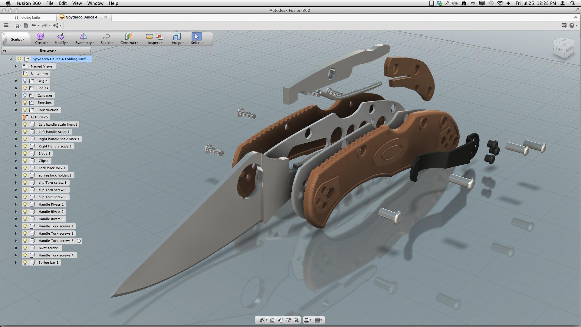 Spyderco Delica 4 |Autodesk Online Gallery