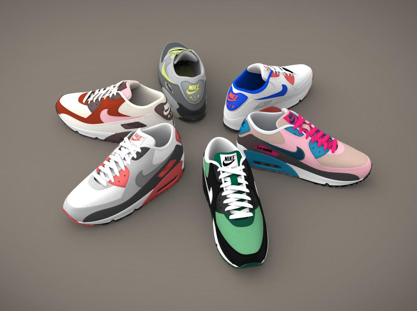 Bocadillo erótico resbalón  Nike Air Max 90|Autodesk Online Gallery