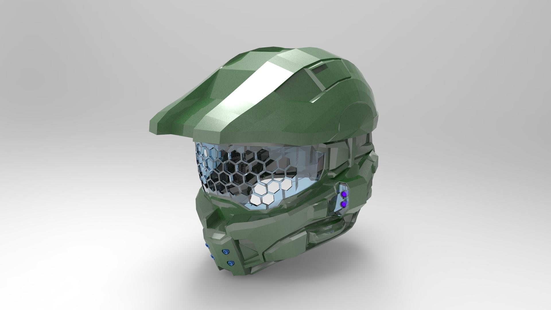 Home Design Game Help Halo 4 Helmet Keyshot Render Autodesk Online Gallery