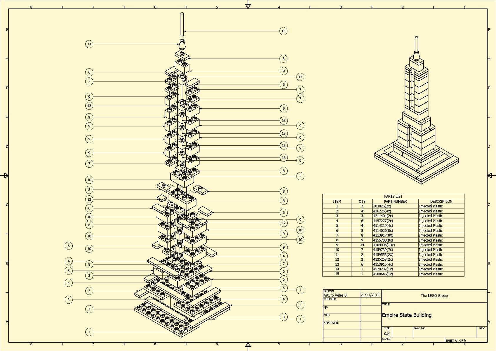 Empire State Building Lego Architecture Autodesk Online Gallery