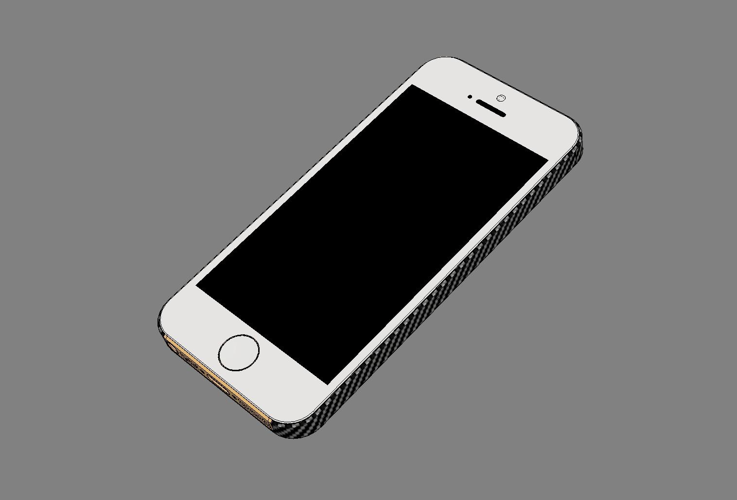 iPhone 5s Carbon Fibre Case|Autodesk Online Gallery