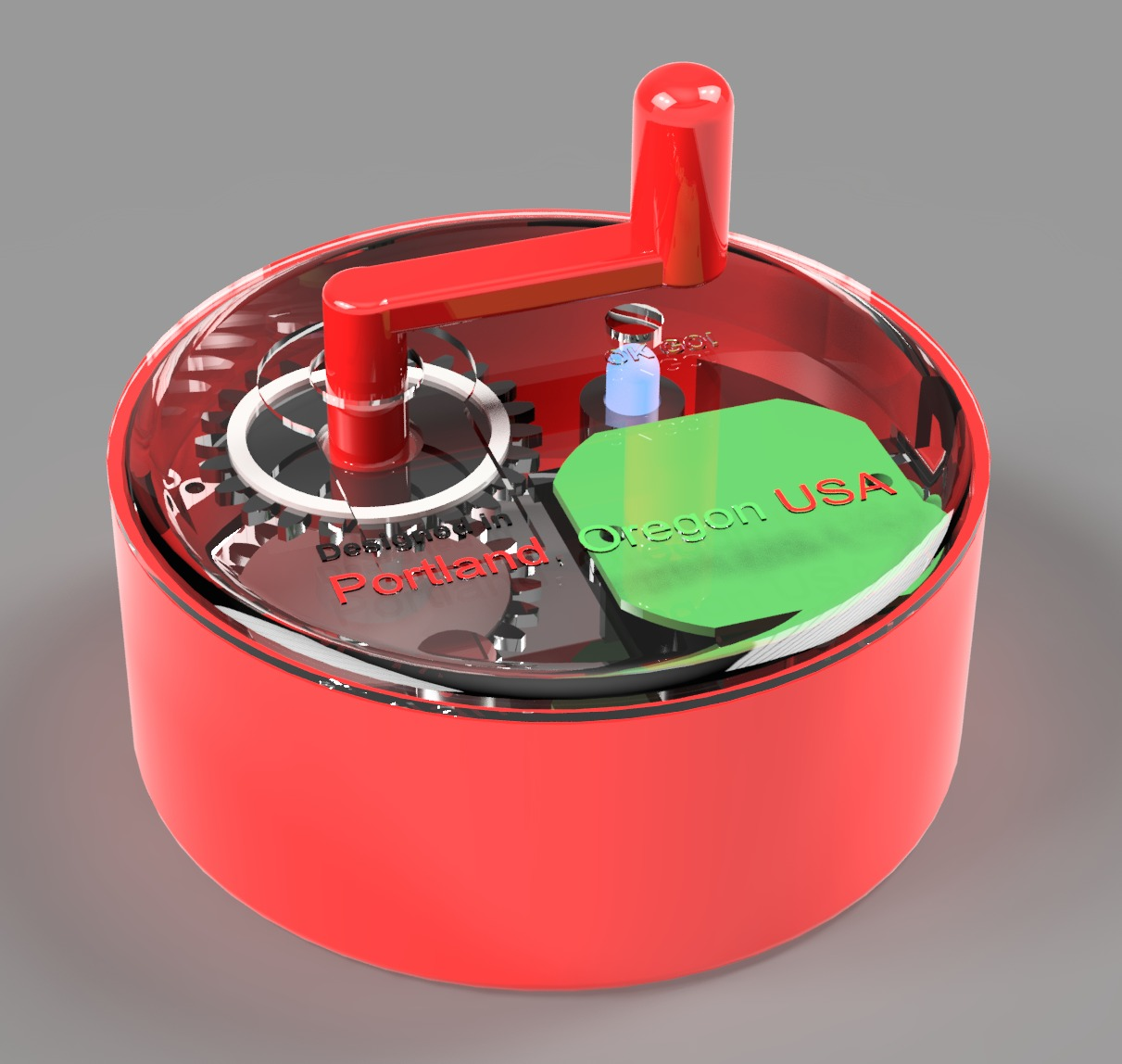 PowerPuck - Low-Cost Hand Crank USB Power Generator (3D