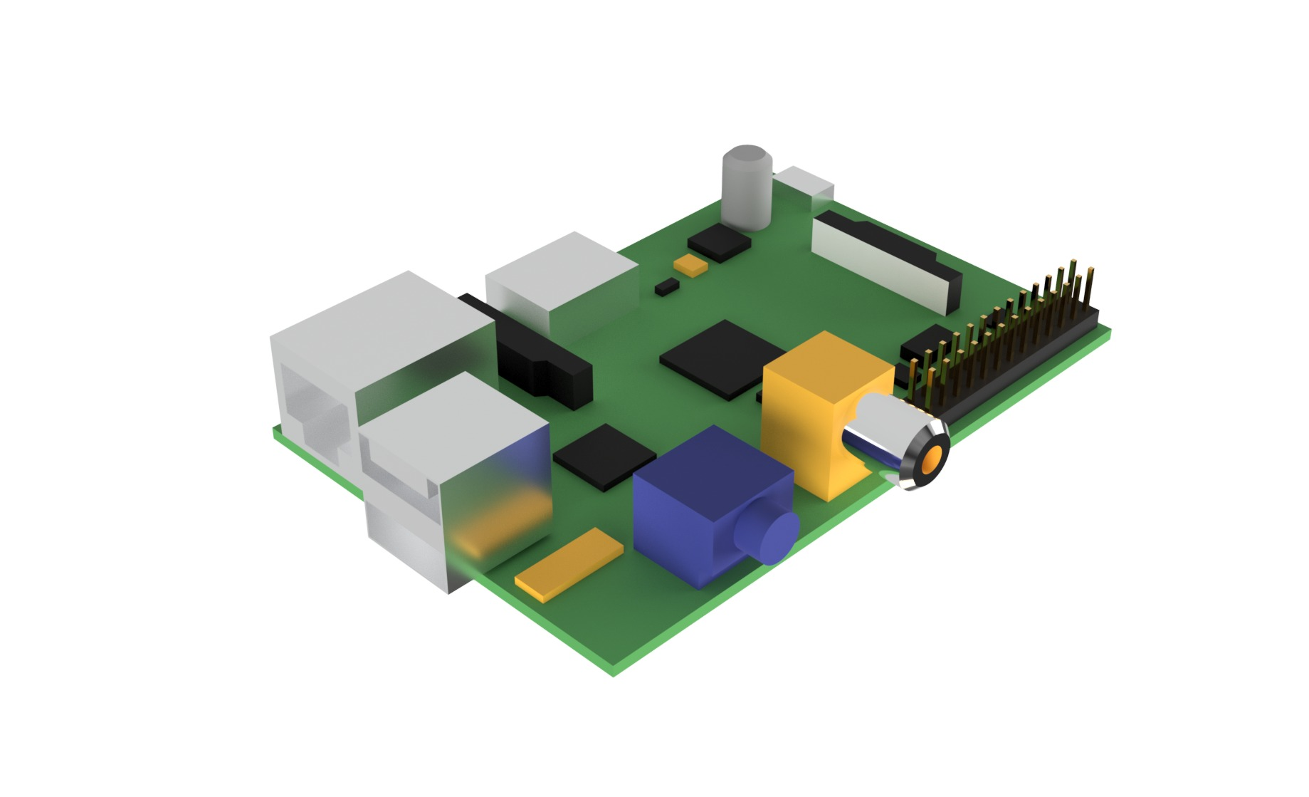 Raspberry Pi Simulation Model|Autodesk Online Gallery