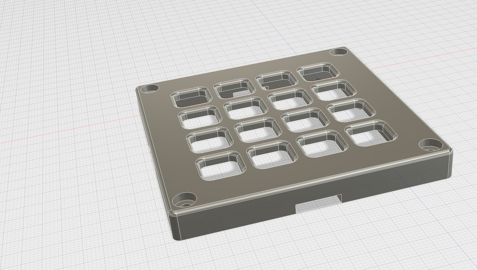 Bezel For Adafruit Trellis 4x4 keypad|Autodesk Online Gallery