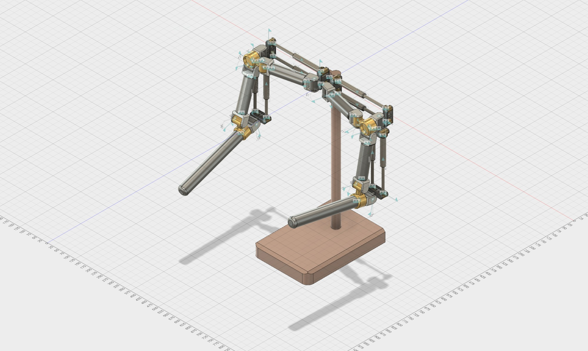 Humanoid Robot Arm with Linear Actuators|Autodesk Online Gallery