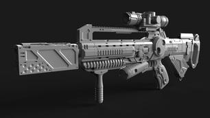 Futuristic Rifle|Autodesk Online Gallery